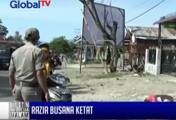 Sejumlah wanita berbusana ketat dirazia Dinas Syariat Islam di Aceh – BIM 08/06