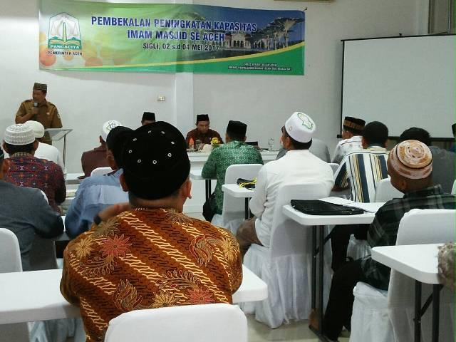 Pembekalan Peningkatan Kapasitas Imam Masjid Se-Aceh Tahun 2017
