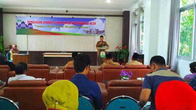 Wartawan Se-Aceh Dibekali Syariat Islam