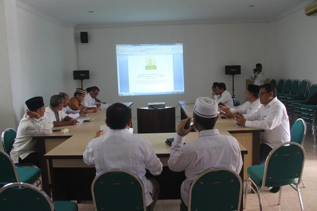 Suasana Rapat FGD Terkait Finalisasi Buku Pedoman Berlangsung Alot di Gedung LPTQ Aceh,