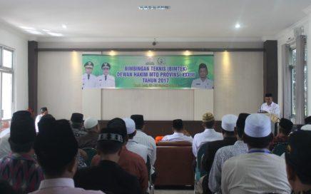 Para Dewan Hakim yang Mengikuti Bimbingan Teknik (BIMTEK) MTQ Provinsi XXXIII se Aceh di Aula LPTQ Aceh 26 September 2017