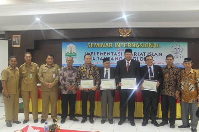 Acara Seminar Internasional di Aula Pascasarjana UIN Ar-Raniry Banda Aceh