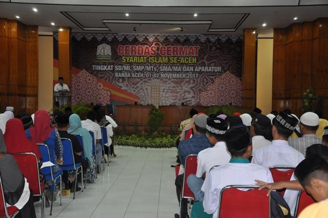 Cerdas Cermat Syariat Islam di Aula Arafah Asrama Haji Embarkasi Aceh