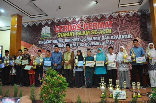 Juara Cerdas Cermat Islam Se Aceh Tahun 2017