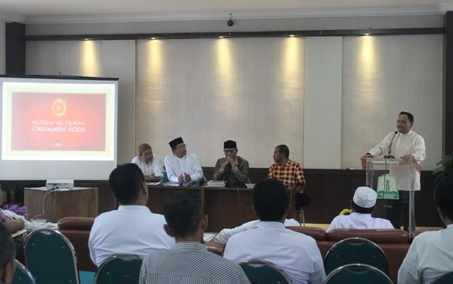 Seminar Hasil Penelitian Mushaf Al-quran Ornamen Aceh