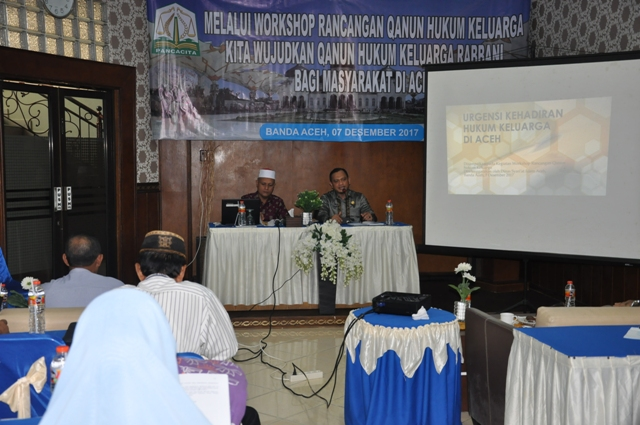 Workshop Rancangan Qanun Hukum Keluarga Tahun 2017