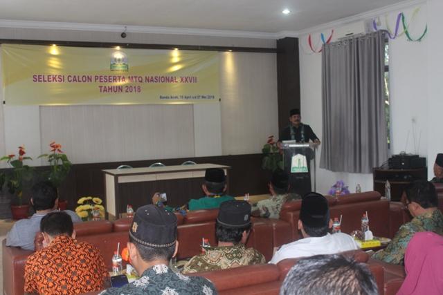 DSI Aceh Seleksi Calon Peserta MTQ Nasional XXVII 2018