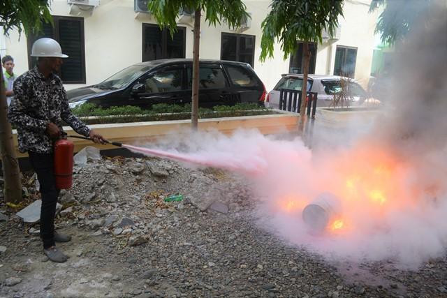 Pelatihan Simulasi Pemadaman Kebakaran Tahun 2018