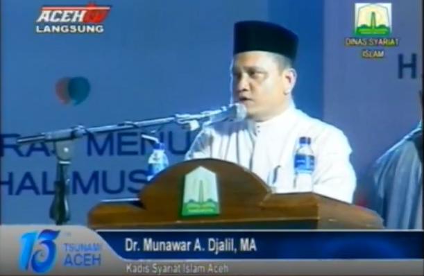 DINAS SYARIAT ISLAM ACEH – Sambutan Kepala Dinas Syariat Islam Aceh Pada Zikir Internasional Peringatan 13 Tahun Tsunami Aceh