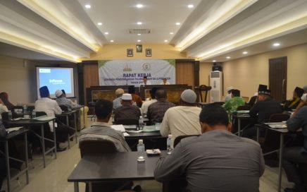 Suasana Rapat Kerja Daerah (Rakerda) Lembaga Pengembangan Tilawatil Qur'an (LPTQ) Aceh tahun 2018 di Aula Hotel Arabia, Banda Aceh, Rabu dan Kamis (14-15 November 18).