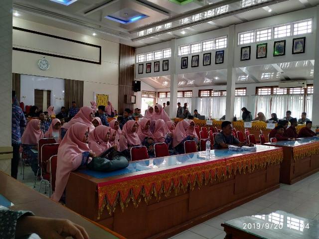 Musabaqah Tilawatil Quran (MTQ) ke-34  tingkat Provinsi Acehmengikuti  proses verifikasi berkas secara faktual sekaligus pengambilan nomor undian peserta seluruh cabang MTQ di Oproom Kantor Bupati Pidie pada Jum'at (20/9/2019).