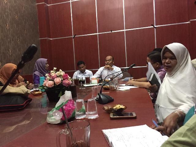 DSI Aceh saat menerima audiensi dari Flower Aceh di ruang rapat UPTD PPQ pada Rabu (25/9/2019) pagi.