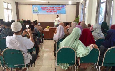 Kepala UPTD PPQ, Muzakkir, SH saat membuka seleksi calon peserta Musabaqah Tilawatil Qur'an Nasional (MTQN) ke-28 tahun 2020 di aula LPTQ Aceh pada Sabtu (9/11/2019) pagi.