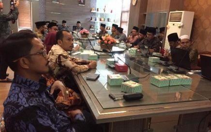 Suasana rapat persiapan kafilah Aceh untuk mengikuti MTQ Nasional ke-28 yang berlangsung di di ruang rapat Biro Keistimewaan dan Kesra Setda Aceh pada Kamis (27/2/2020) pagi.