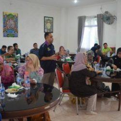 Suasana Diskusi Tamu Malaysia dengan Pejabat DSI Aceh di Aula Gedung LPTQ, (16/03).
