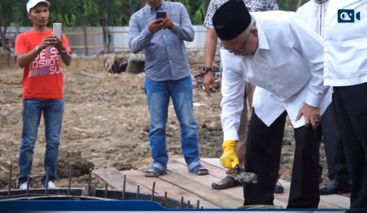 GUBERNUR LETAK BATU PERTAMA PEMBANGUNAN GEDUNG DINAS SYARIAT ISLAM